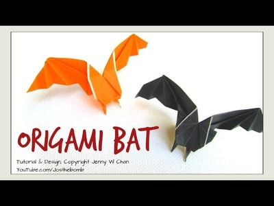 Origami Bat - Halloween Crafts - How to Make A Paper Bat Decoration