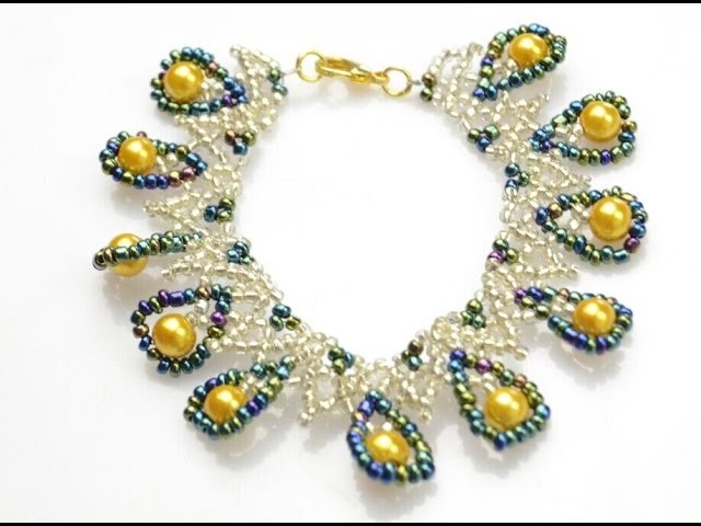 PandaHall Jewelry Tutorial Video--DIY Indian-style Netted Bracelet with Pearl and Iris Seed Beads