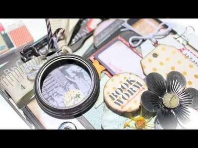 Scrapbooking Clip Board Mini Album (Featuring NEW Prima School Memories) LWP USTREAM