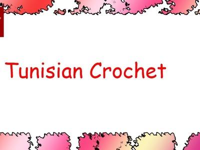 Small Crochet Hook Afghan Stitch - Tunisian Crochet Stitch Tip