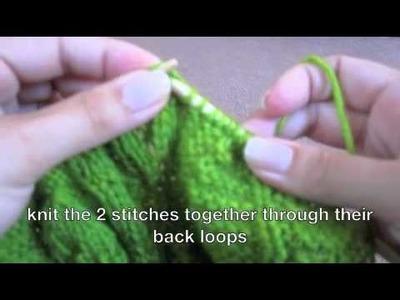 Ssk -slip slip knit stitch