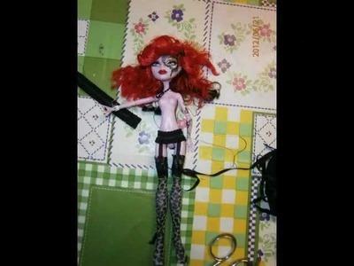 Stockings for Monster HIgh doll DIY