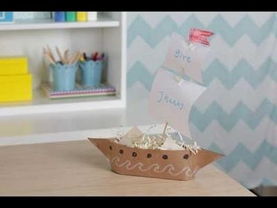 Thanksgiving Kids' Craft Mayflower Centerpiece