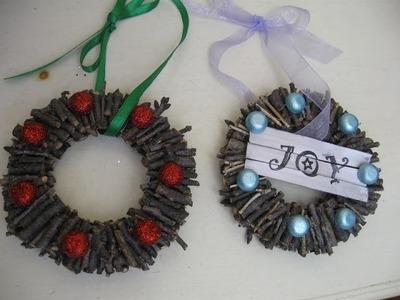 Twig Wreath Christmas Holiday Craft