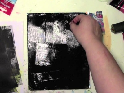 Using up old scrapbooking stickers on the Gelli Plate