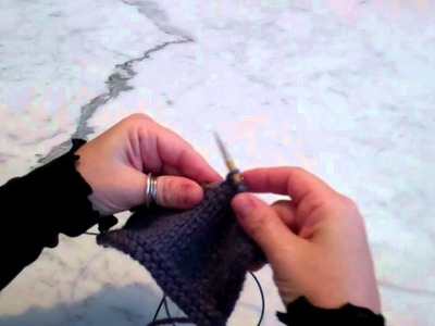 Wrap & Turn: Picking up the Wrapped Stitch on the Knit Side