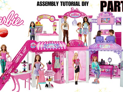 BARBIE MALIBU MALL HOW TO assembly DIY tutorial instructions and REVIEW part 2