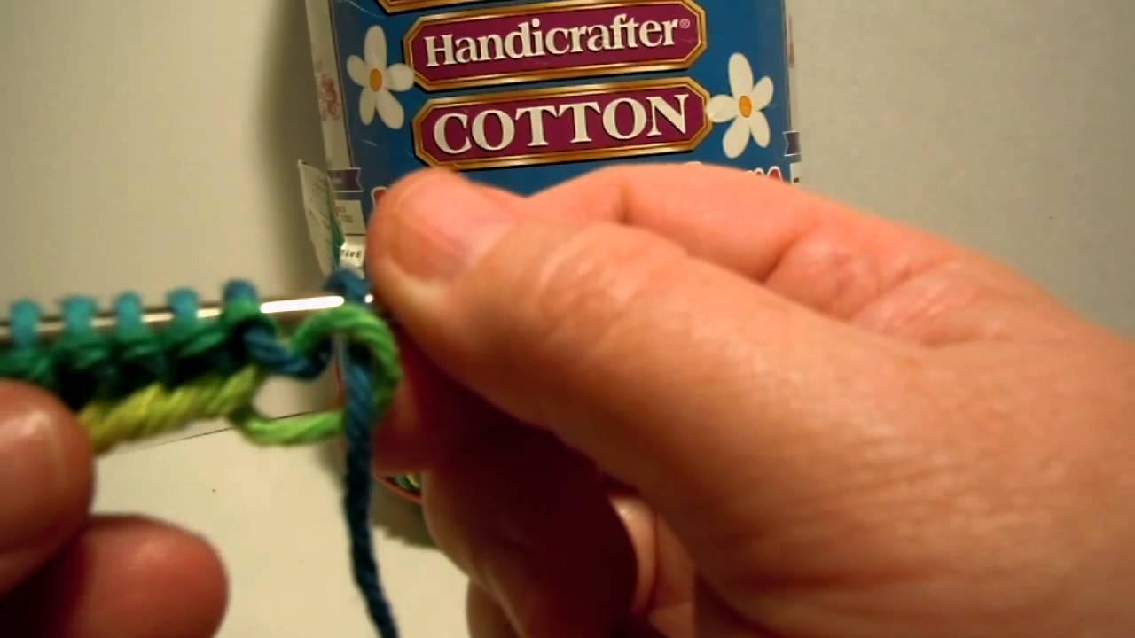 Beginner Knit Dishcloth - Part Two