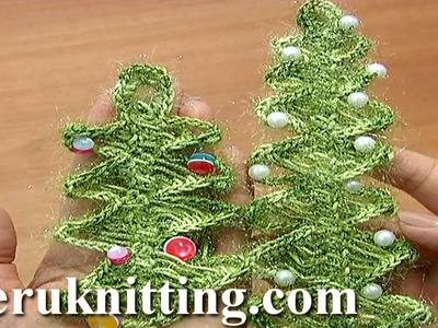 Crochet Christmas Tree On Hairpin Loom Tutorial 4 Part 2 of 2 Christmas Tree Ornament