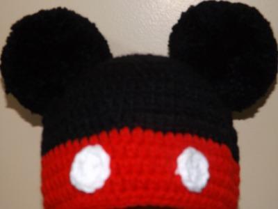 Crochet Mikey Mouse Hat