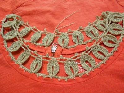Cuello de Blusa tejido Crochet