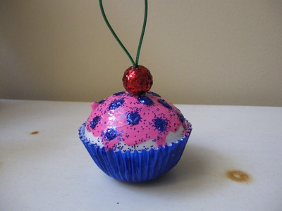 Cupcake Ornament Craft Tutorial