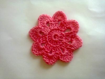 Цветочный мотив (вязание крючком).  Floral motif (Crochet)