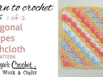 Diagonal Striped Dishcloth FREE PATTERN 215 - Part 1 of 2