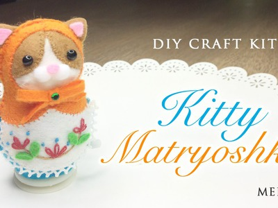 DIY Clockwork Cat Russian Doll - Japanese Sewing Craft Kit