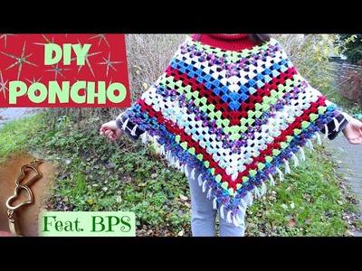 DIY crochet poncho inspired by bobwilson123