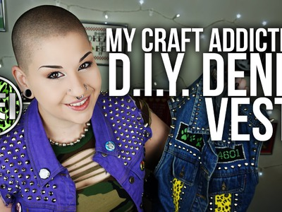 DIY Denim Vests | MY CRAFT ADDICTION