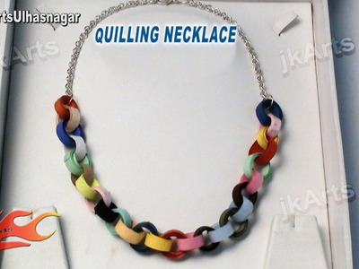 DIY How to make Paper Quilling Necklace - JK Arts 556
