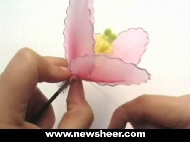 DIY Instruction Fabric Flower -Handmade Nylon Hibiscus from New Sheer Creations