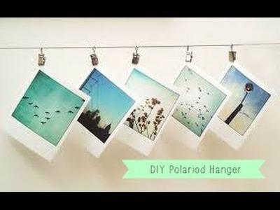DIY: Polaroid Pictures Hanger Decor Tutorial
