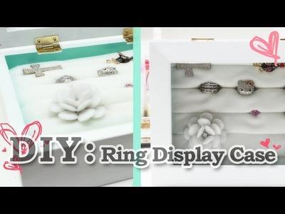 DIY: Ring Display Case
