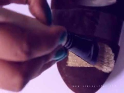 DIY TUTORIAL : Gold tip shoes  | GIA SAYS THAT