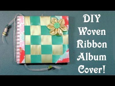 DIY Woven Ribbon Album Cover