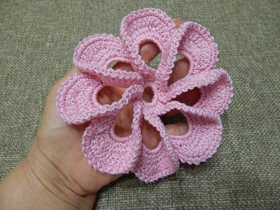 Flor # 12 Pétalos 3D Crochet