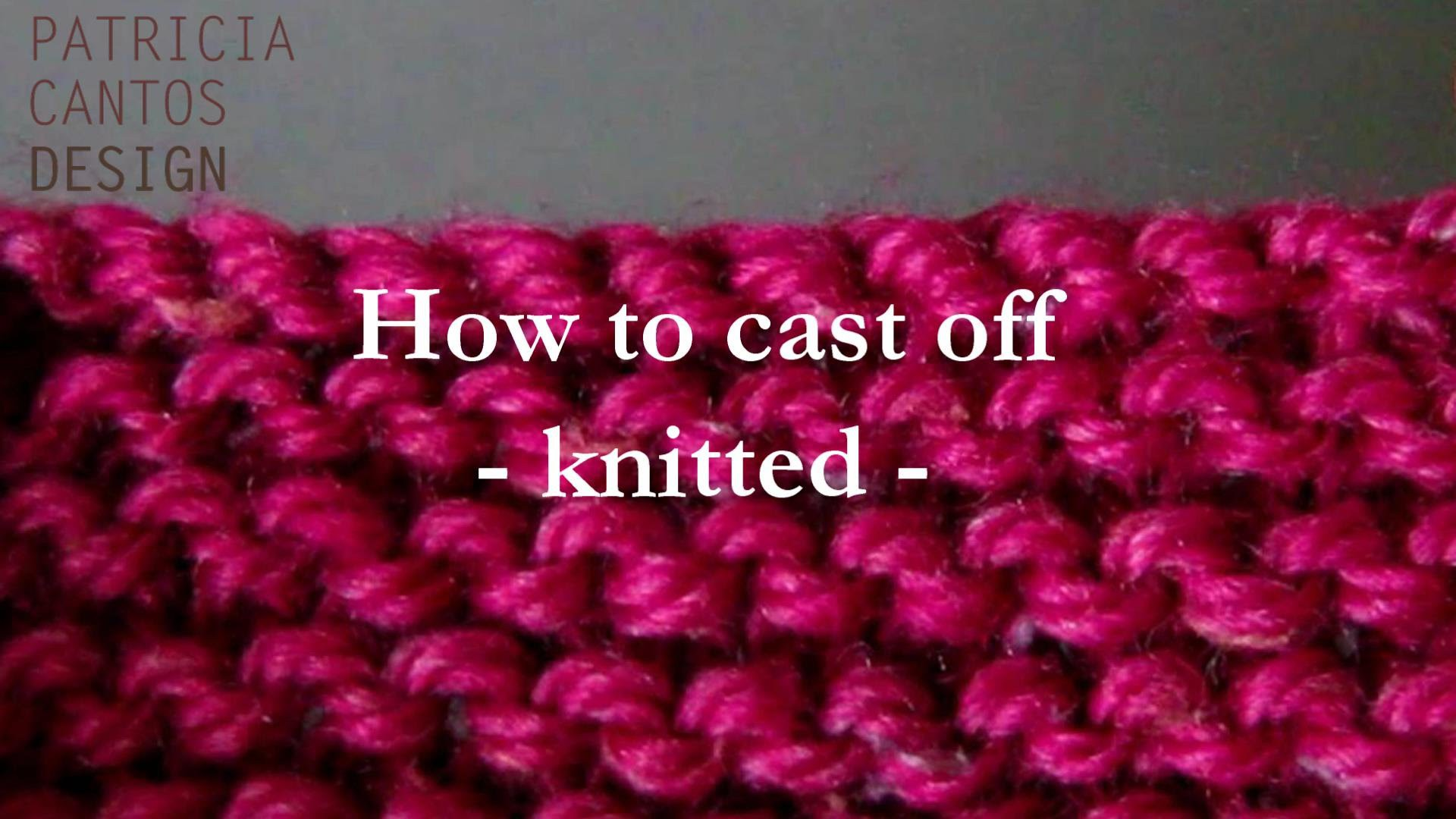 How to cast off knitting - knitted cast off