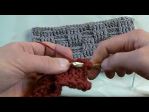 How To Crochet A Basket Weave Stitch - RH Part 2 of 2