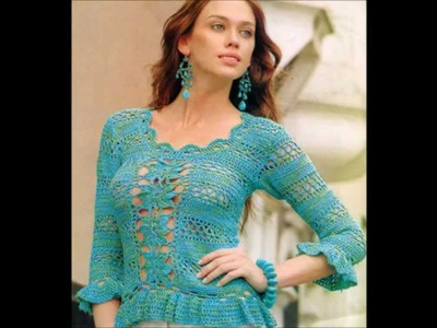 How to Crochet blouse green free pattern