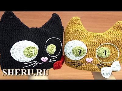 How to Crochet Cat Hat Урок 6 часть 1 из 2 Детская шапочка
