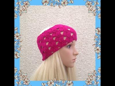 How to Crochet Earwarmers. Headband Pattern #15 │by ThePatterfamily