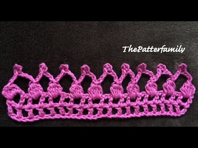 How to Crochet the Edge. Border. Trim Stitch Pattern #30 │ by ThePatterfamily