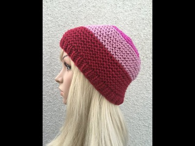How to Knit a Beanie Hat Pattern #12  │ by ThePatterfamily