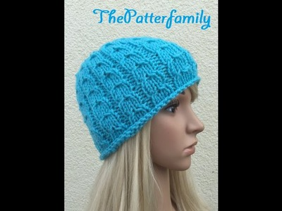 How to Knit a Cable Beanie Hat Pattern #22 │ by ThePatterfamily