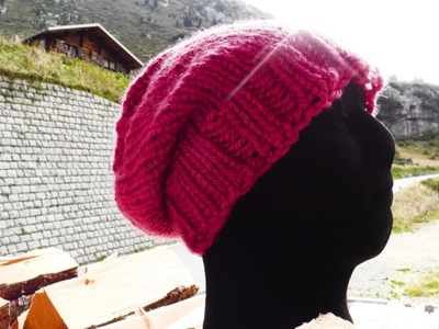 How to knit a long beanie - © Woolpedia