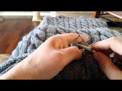 How to knit backwards. Strikk fra venstre mot høyre (bakover)