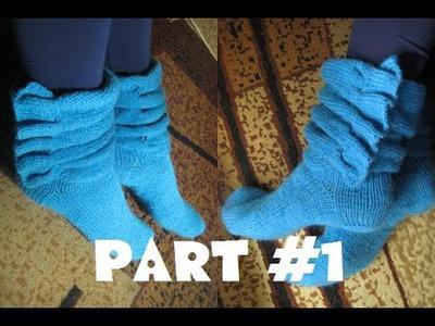 How to knit beautiful socks( part 1)_Носки Роза ветров ( часть 1)