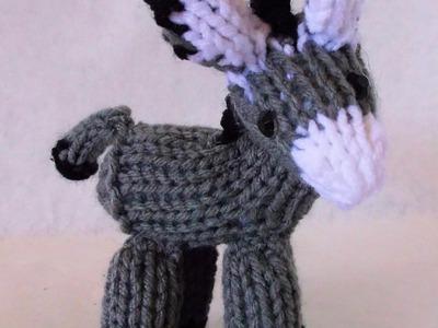 How to Loom Knit a Mini Donkey