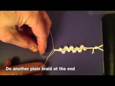 How to make a braided bead bracelet