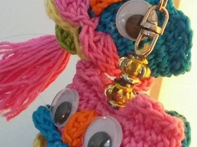 How to make a crochet owl key chain-1
