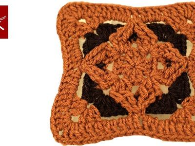 How to make a Granny Square Crochet Diamond Crochet Geek
