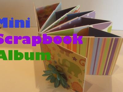 How to Make a Long Envelope Mini Baby Scrapbook Album