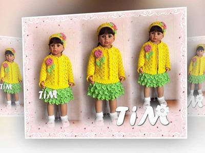 Красивые вязаные кофточки для девочек. Beautiful crochet sweaters for girls
