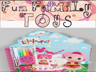 Lalaloopsy drawing portfolio DIY Mommy Daughter Craft Session tutorial do it yourself