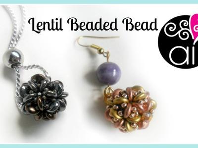 Lentil Beaded Bead DIY   Tutorial Perline   Lentil Beads & Rocailles