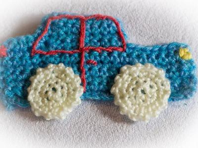 Naszywka Samochód na szydełku. Car Stripe crochet