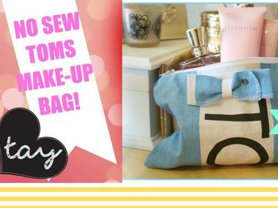NO SEW Toms Make-up Bag DIY Tutorial