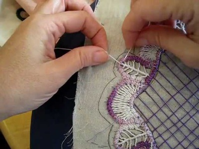 Round doily part 2: Filling for a leaf in RPL